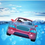 car swims